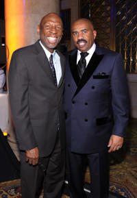 Geoffrey Canada and Steve Harvey at the 2nd Annual Steve Harvey Foundation Gala in New York.