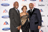 Geoffrey Canada, Marjorie Harvey and Steve Harvey at the 2nd Annual Steve Harvey Foundation Gala in New York.