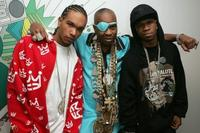 Famous, Slick Rick and Chamillionaire at the MTV's Total Request Live.