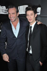 Jean Dujardin and Pierre Niney at the Chaumet's Cocktail Party for Cesar's Revelations 2013.
