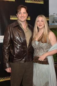 Brendan Fraser and Afton Smith at the premiere party of