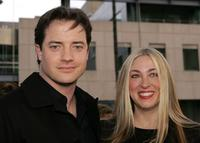 Brendan Fraser and Afton Smith at the premiere of