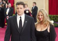 Brendan Fraser and Afton Smith at the 75th Annual Academy Awards.