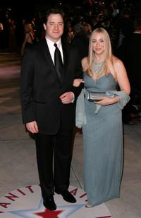 Brendan Fraser and Afton Smith at the Vanity Fair Oscar Party.
