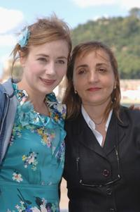 Dominique Blanc and Julie Depardieu at the 53rd San Sebastian International Film Festival.