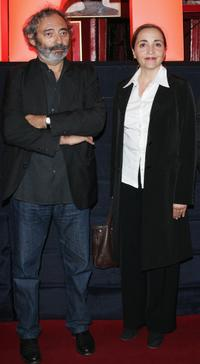 Writer Dan Franck and Dominique Blanc at the premiere of
