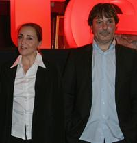 Dominique Blanc and Gabriel Aghion at the premiere of