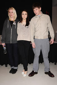 Lily Loveless, Kathryn Prescott and Jack O'Connell at the photocall to Promote