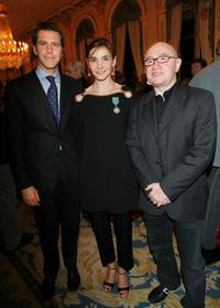 Michel Blanc and Prince Emmanuel Philibert de Savoie and Clotilde Courau in Paris.