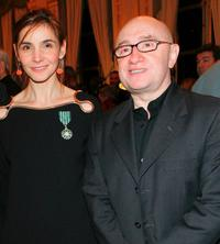 Clotilde Courau and Michel Blanc at the French Minister of Culture Awards.