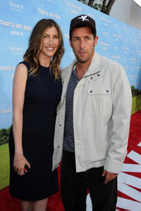 Jackie Sandler and Adam Sandler at the California premiere of