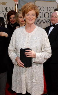 Maggie Smith at the 59th Annual Golden Globe Awards in Beverly Hills.