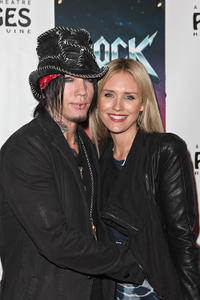DJ Ashba and Nicky Whelan at the Opening Night of