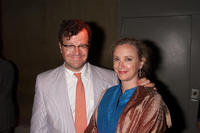 Kenneth Lonergan and J. Smith-Cameron at the after party of Douglas Carter Beane's new play