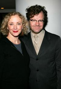 J. Smith-Cameron and Kenneth Lonergan at the opening night of