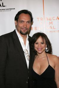 Jimmy Smits and Rosie Perez at the premiere of
