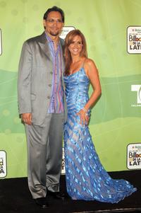 Jimmy Smits and Maria Celeste Arraras at the 2005 Billboard Latin Music Awards.