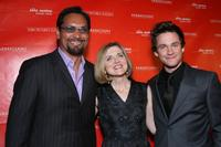 Jimmy Smits, Robin Swicord and Hugh Dancy at the premiere of