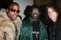 Won-G, Wesley Snipes and Alice Cooper at the LA Confidential party.