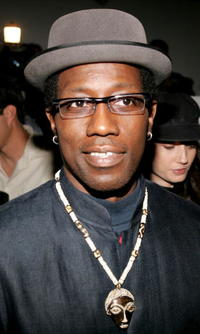 Wesley Snipes at the Single Fall 2005 show during the Mercedes-Benz Fashion Week.