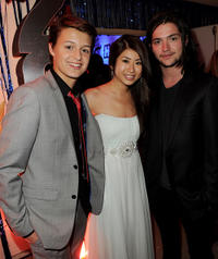 Nolan Sotillo, Yin Chang and Thomas McDonell at the after party of the California premiere of