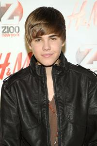 Justin Bieber at the Z100's Jingle Ball 2010 in New York City.