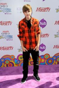 Justin Bieber at the Variety's 4th Annual Power of Youth Event.