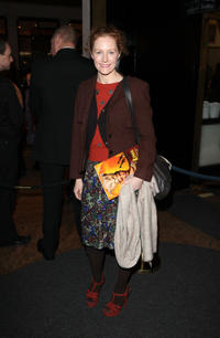 Geraldine Somerville at the press night of Matilda: The Musical in London.