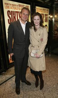 Bill Osbourne-Young and Geraldine Somerville at the premiere of