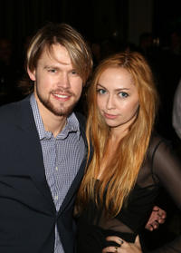 Chord Overstreet and songwriter Brandi Cyrus at the 2013 BMI Pop Awards in California.