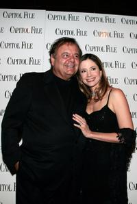 Paul Sorvino and Mira Sorvino at the Capitol File holiday issue party.