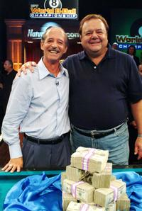 Paul Sorvino and Mike Sigel at the International Pool Tour World 8-Ball Championship.