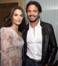 Talisa Soto and Benjamin Bratt at the Miramax Films' pre-oscar party.
