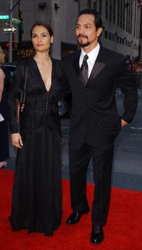 Talisa Soto and her husband Benjamin Bratt at the NBC 75th Anniversary celebration taking place live in Studio 8H.