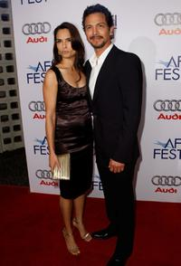 Talisa Soto and her husband Benjamin Bratt at the AFI FEST 2007.