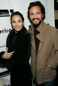 Talisa Soto and her husband Benjamin Bratt at the premiere of
