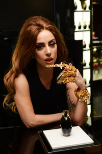 Lady Gaga at the launch of new fragrance Fame by Lady Gaga in Harrods London.