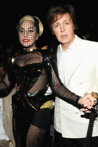 Lady Gaga and musician Paul McCartney at the 54th Annual GRAMMY Awards in California.