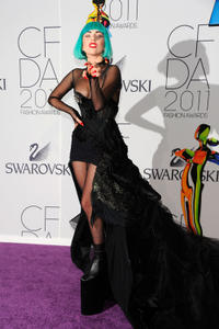 Lady Gaga at the 2011 CFDA Fashion Awards in New York.
