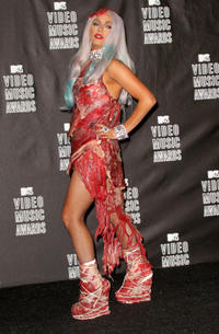 Lady Gaga at the 2010 MTV Video Music Awards in California.