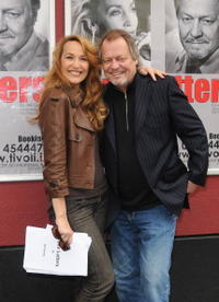 Jerry Hall and David Soul at the announcement of their new show