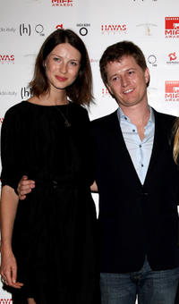 Caitriona Balfe and Ole Schell at the MIFF Awards party night in Italy.
