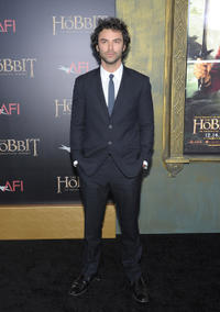 Aidan Turner at the New York premiere of