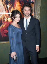 Aidan Turner and Guest at the New York premiere of