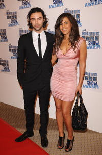 Aidan Turner and Lenora Crichlow at the South Bank Show Awards.