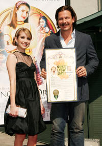 Emma Roberts and Andrew Fleming at the California premiere of