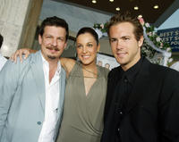 Andrew Fleming, Lindsay Sloane and Ryan Reynolds at the California premiere of