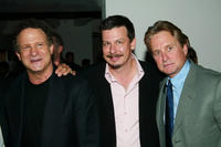 Albert Brooks, Andrew Fleming and Michael Douglas at the world premiere of
