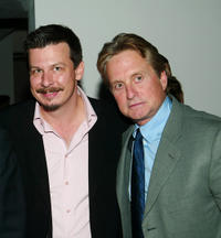Andrew Fleming and Michael Douglas at the world premiere of
