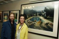 David Spade and his sister Kate Spade at the gallery exhibition of photographer Slim Aarons' work curated by Kate Spade.